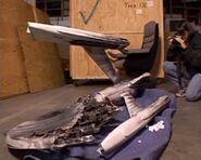 USS Enterprise debris model
