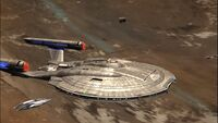 Enterprise, NX-01 w orbicie Verex III w 2154 roku.