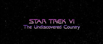 Title card for Star Trek VI: The Undiscovered Country