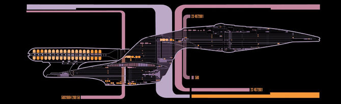 Master systems display of the Galaxy-class USS Enterprise-D