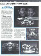 Star Trek Adventure 1988 Hollywood venue brochure page