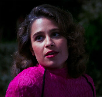 Christy Henshaw on the holodeck in 2366