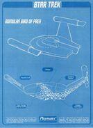 Playmates Toys Romulan Bird-of-Prey technical blueprint