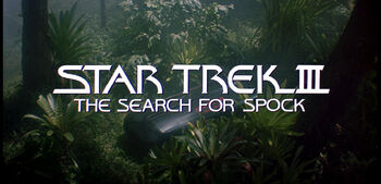 Title card for Star Trek III: The Search for Spock
