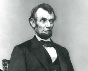 A photograph of Lincoln taken in the 1860s