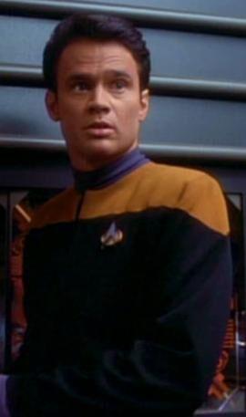 DeCurtis, a Human Starfleet officer