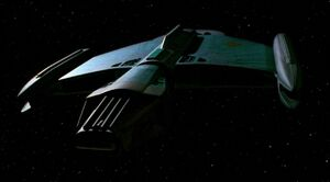 Romulan science vessel, forward