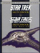 Star Trek The Next Generation Sketchbook The Movies slipcase cover
