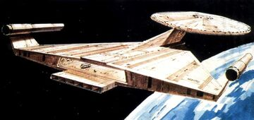 USS Enterprise, Planet of the Titans, aft.jpg