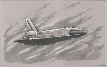 Archer's drawing of Orbiter Vehicle 101