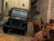 Military jeep recreation on Voyager's holodeck