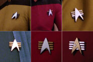 Parallel Starfleet combadge