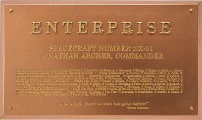 Raumschiffsammlung Widmungsplakette Enterprise (NX-01).jpg