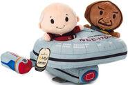 Hallmark Itty Bittys Picard Worf USS Enterprise-D