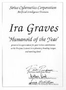 Ira Graves, Humanoid of the Year