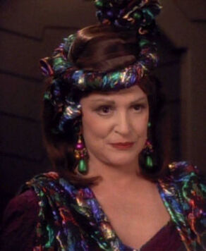 Lwaxana Troi, a Betazoid female (2371)