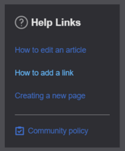 Community page help links.png