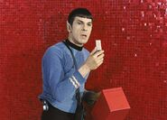 Spock with communicator in deleted scene