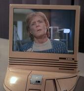 Starfleet desktop monitor, white