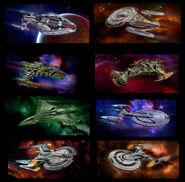 Star Trek Online Starships Collection online promo art