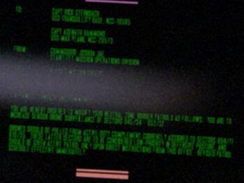 Rick Sternbach on a Starfleet Command order