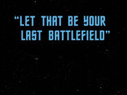 3x15 Let That Be Your Last Battlefield title card