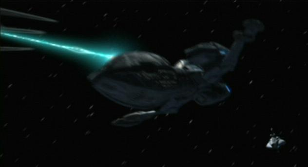 Andorian battle cruiser, forward dorsal beam.jpg
