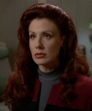 Female Q on the USS Voyager