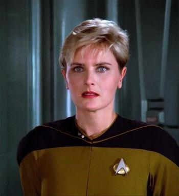 Lieutenant Natasha Yar in 2364