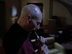 Picard playing Ressikan Flute.jpg