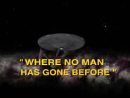 1x01 Where No Man Has Gone Before title card