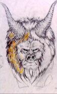 God face 1, sketch