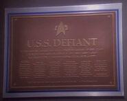 USS Defiant (2370) dedication plaque