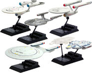 F-toys Star Trek Starfleet Collection side view