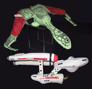 Star Trek The Experience plush starship toys