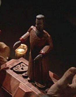 An ancient Bajoran artifact, containing a Pah-wraith