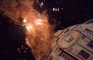USS Defiant destroys a Bird-of-Prey