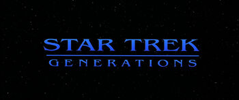 Title card for Star Trek Generations