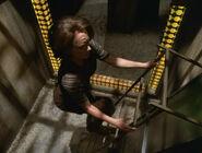 B'Elanna using a ladder