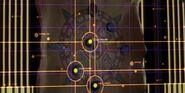 Star map of Komar nebula