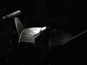 Romulan bird-of-prey, CG TOS-aft-dorsal