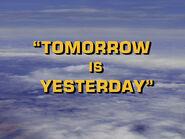 1x21 Tomorrow is Yesterday title card