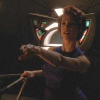 Leeta as Emony Dax during Jadzia's <i>zhian'tara</i>