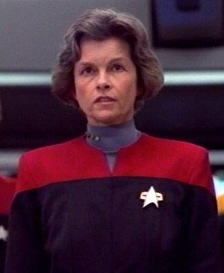 ... as Captain Nicole Janeway