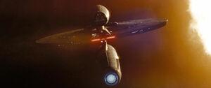 USS Kelvin, aft