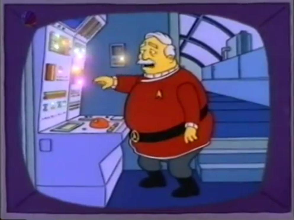 Parodien und Anspielungen auf Star Trek (Fernsehen)/Die Simpsons