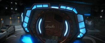 Funny Face departing the USS Discovery