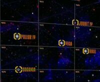 Pollux IV, Vega, Jouret IV, Rigel, Organia