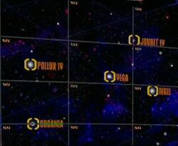 Pollux IV, Vega, Jouret IV, Rigel, Organia.jpg