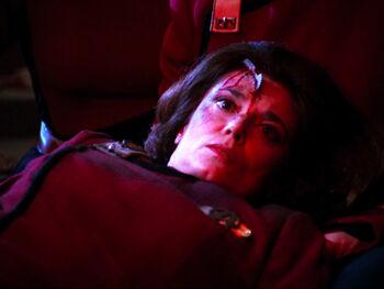 Captain Garrett, killed in a Klingon attack